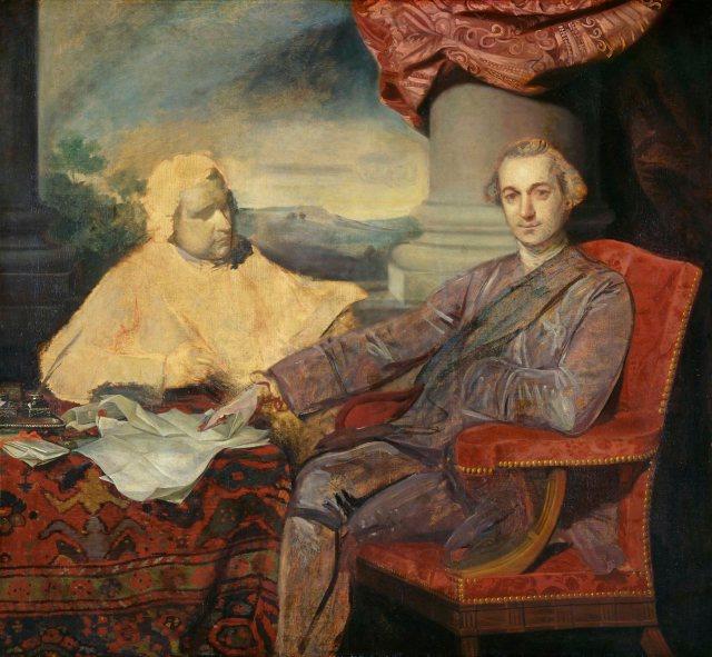 Lord Rockingham and Edmund Burke, by Sir Joshua Reynolds